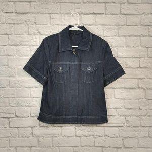 Escada | Dark Wash Jean Jacket Button Details